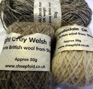 British breed yarn from Sheepfold (from £2.25)