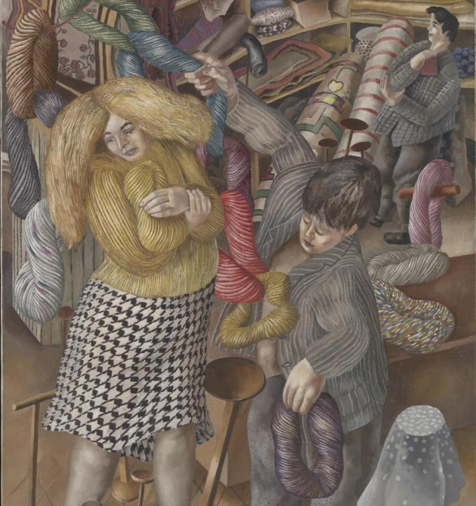 The Woolshop 1939 by Sir Stanley Spencer 1891-1959
