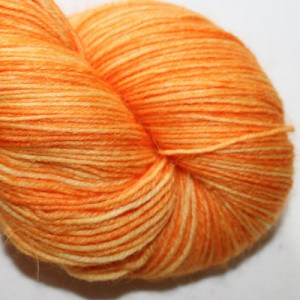 British wool with nylon in Carrot
