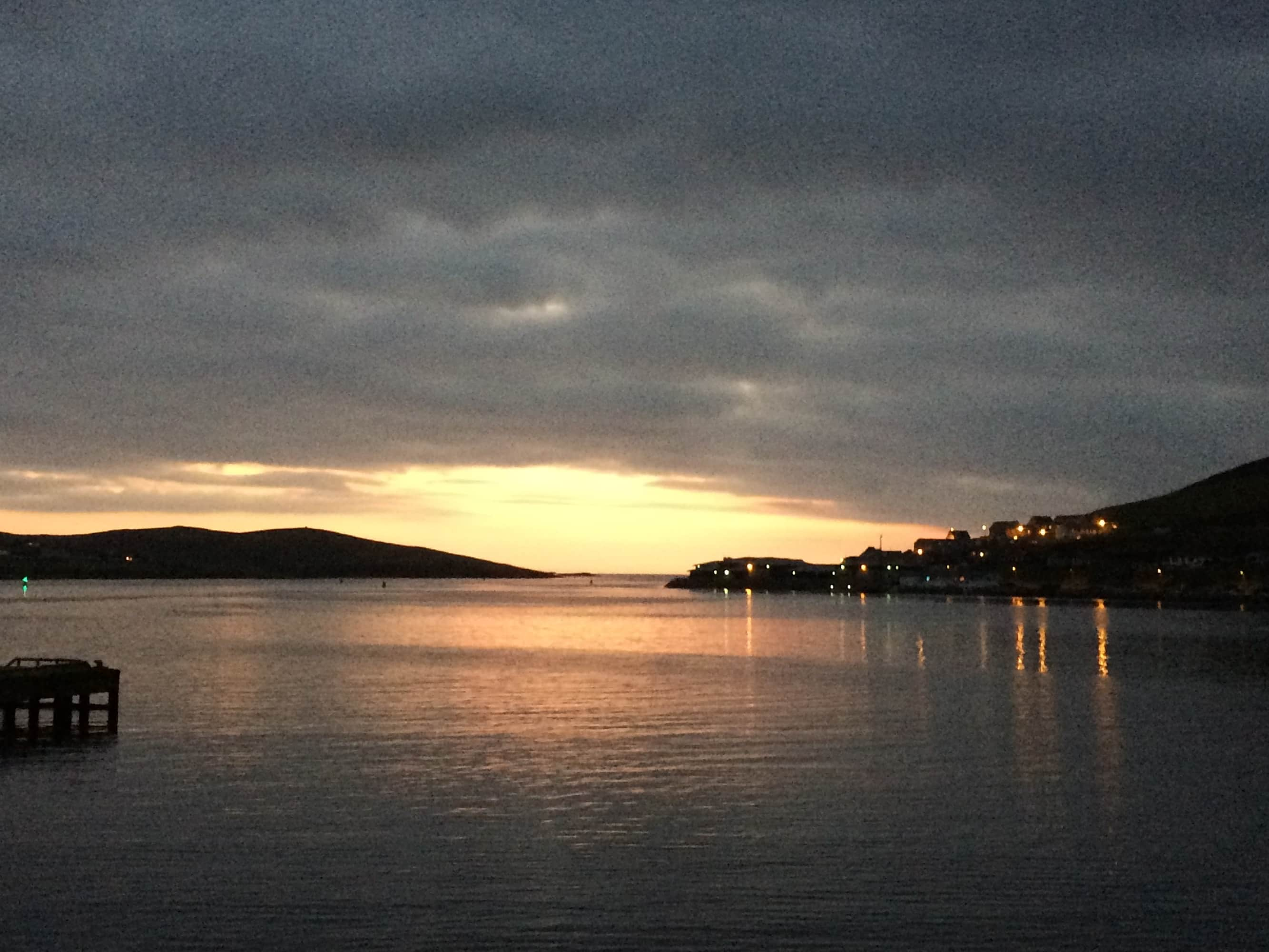 and the sun sets on the last day of Shetland Wool Week 2015. What a special week it was.