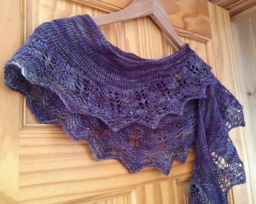 Mezquita shawl in Assynt Storms by Ripplescrafts