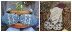 Azurite mitts by Sonja Bargielowska